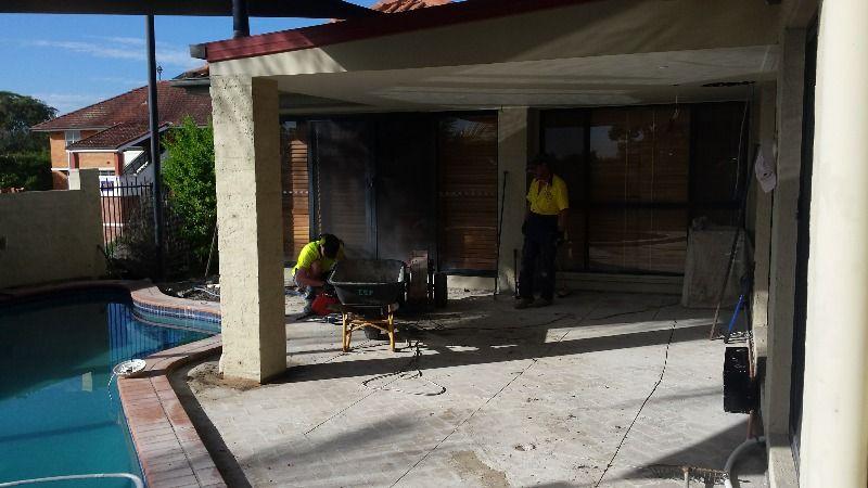 before concrete removal